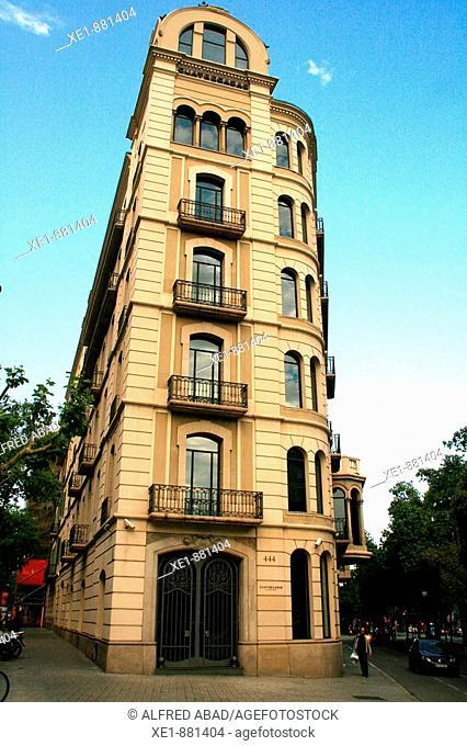 Cuatrecasas building in Passeig de Gracia, Barcelona. Catalonia, Spain