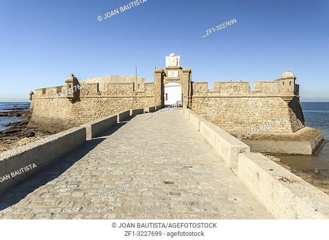 Castle of San Sebastian, fortress on a smail island separated from the main city, according classical tradition, there was a Temple of Kronos