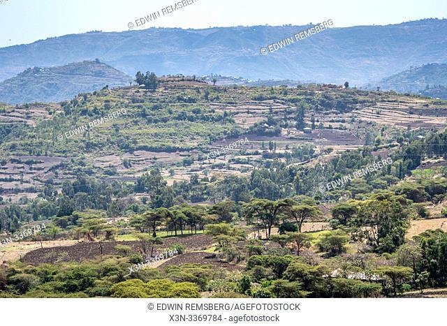 The countryside of Debre Berhan, Ethiopia