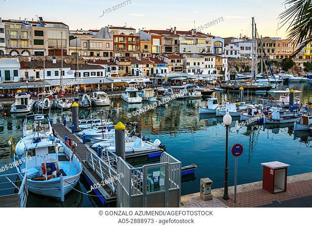 Port. Ciutadella. Minorca. Balearic Islands. Spain