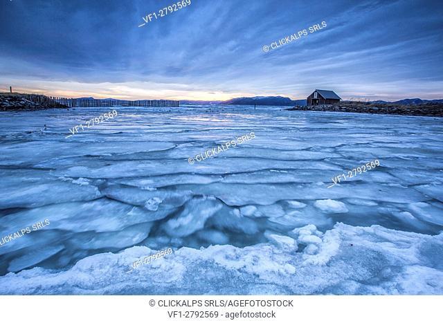 The icy sea Kystensarv Trøndelag Norway Europe