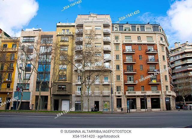 Facades of Buildings in Diagonal, 316. Photo taken in Barcelona, Spain, Europe