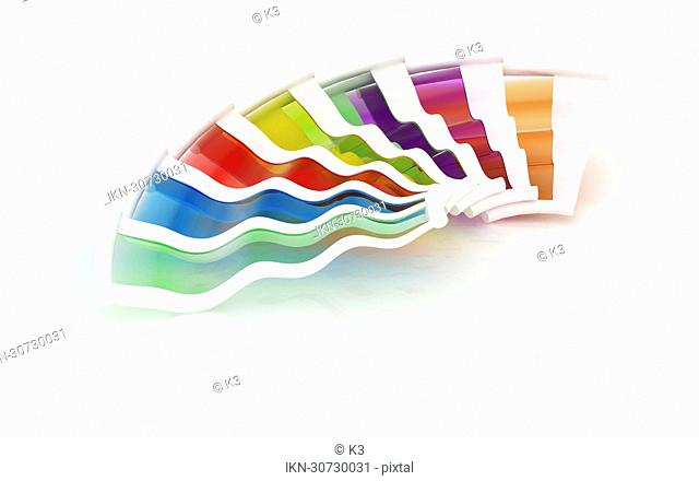 Multicolored color swatch
