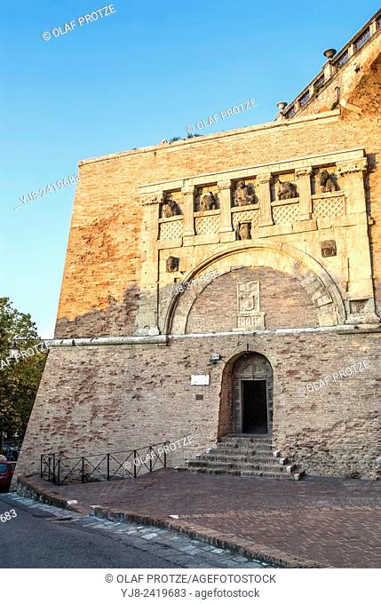 Rocca Paolina and Porta Marzia at the old town of Perugia, Umbria, Italy