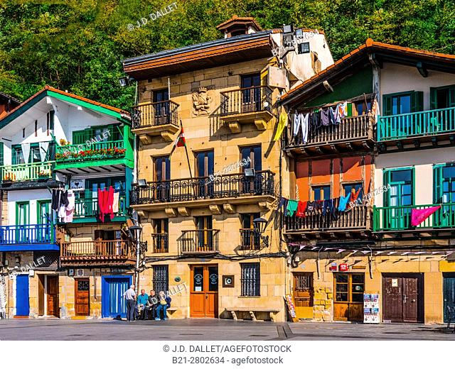 Spain- Guipuzcoa Basque country- Village of Donibane ( or Pasajes de San Juan) where the french writer Victor Hugo lived, during years