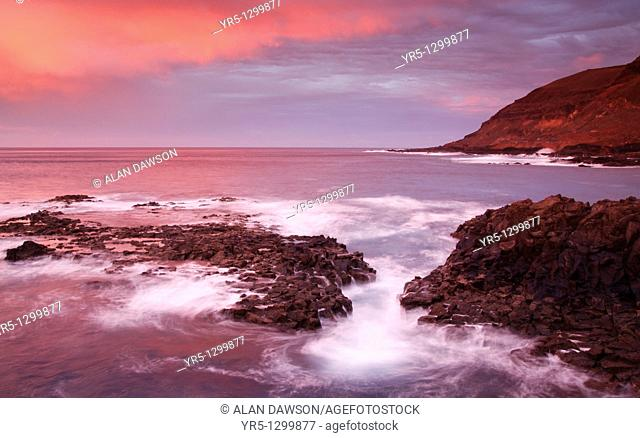 Sunset from El Confital, La Isleta, Las Palmas, Gran Canaria, Canary Islands, Spain
