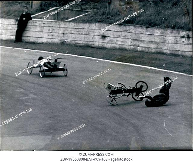 Aug. 08, 1966 - Camden's Soapbox Derby Held At Crystal Palace; About 200 Camden children, some of their parents and the Mayor of Camden, Councillor L
