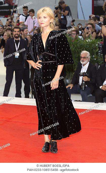 Clémence Poésy attends the premiere of 'A Star Is Born' during the 75th Venice Film Festival at Palazzo del Cinema in Venice, Italy, on 31 August 2018