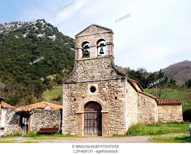 Pre-Romanesque church of Santo Adriano de Tuñón, Santo Adriano. Asturias, Spain