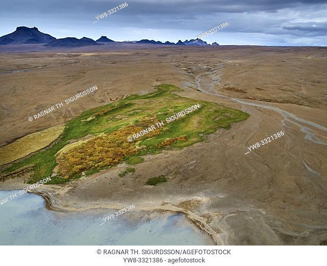 Kjolur road or Kjalvegur road, Central Highlands, Iceland