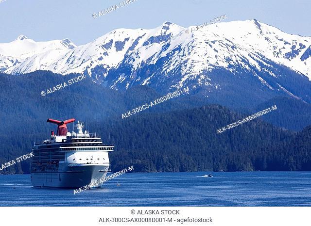 Cruise Ship Carnival Spirit in Crescent Bay Sitka Alaska Inside Passage Southeast summer