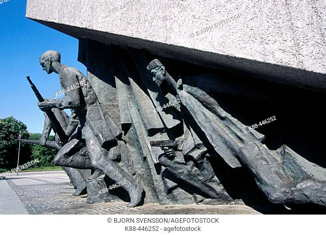 Memorial to the Heroes of the Warsaw uprising. Warsaw. Poland