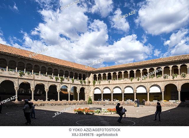 Peru, Cusco, Qorikancha Sun Temple and Santo Domingo convent