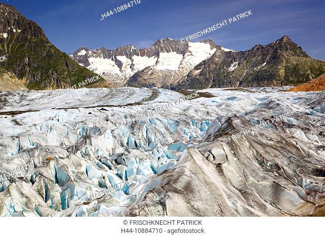 Wannenhörner und Aletsch Gletscher, Wallis, Schweiz