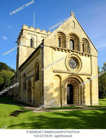 The 12th century parish church of St Mary's Iffley, Oxford, England, UK