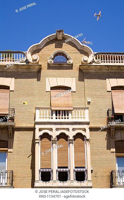 Typical Architecture, Plaza del Cardenal Belluga, Murcia capital, Spain