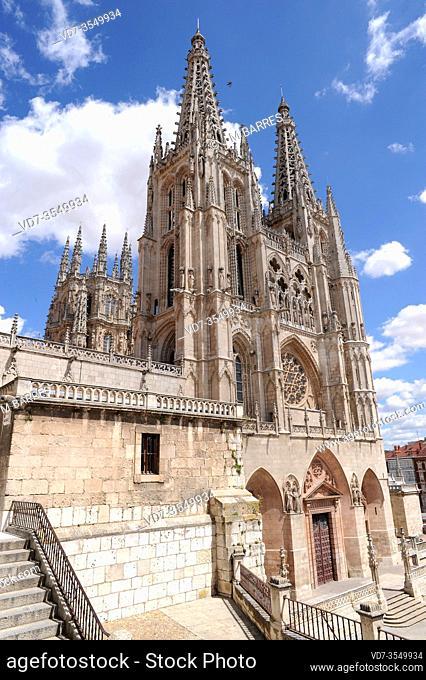 Burgos city, Catedral de Santa Maria gothic 13-14th centuries. Burgos province, Castilla y Leon, Spain