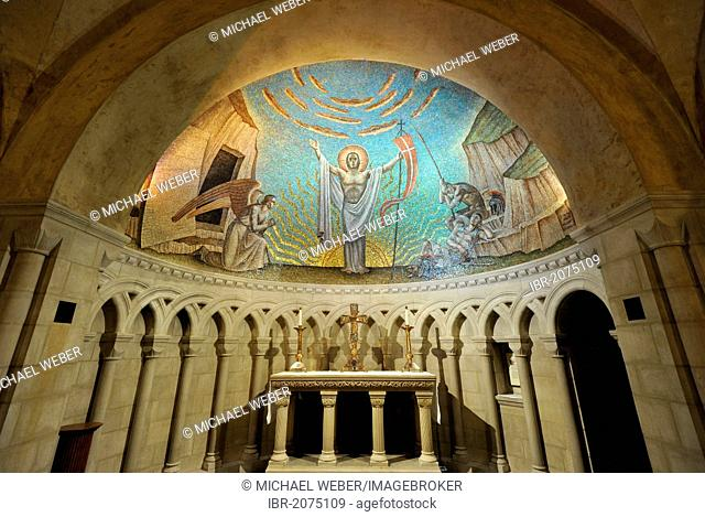 Resurrection Chapel, center for prayer and pilgrimage, crypt, Washington National Cathedral or Cathedral Church of Saint Peter and Saint Paul in the diocese of...