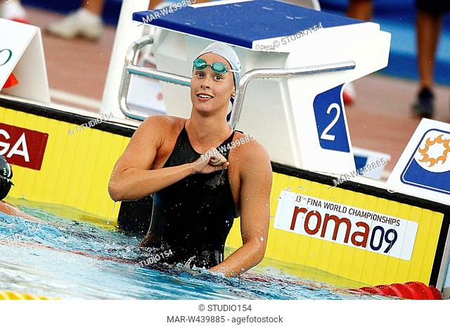 federica pellegrini, roma 2009, fina world championship