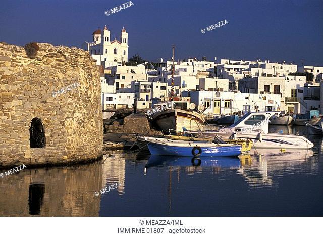 The Castle of Naoussa, Paros, Cyclades, Greece, Europe
