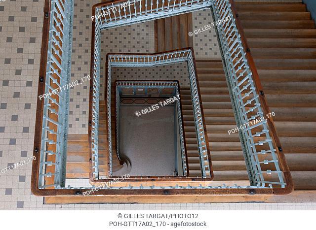 Paris, boulevard Saint Michel, lycee saint louis, Grand escalier Racine Photo Gilles Targat