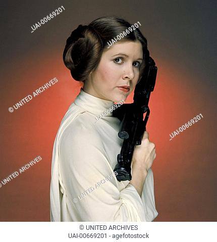 STAR WARS: EPISODE IV - A NEW HOPE USA 1977 George Lucas Princess Leia Organa (CARRIE FISHER) Regie: George Lucas / STAR WARS: EPISODE IV - A NEW HOPE USA 1977