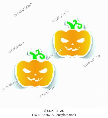 realistic design element: pumpkin