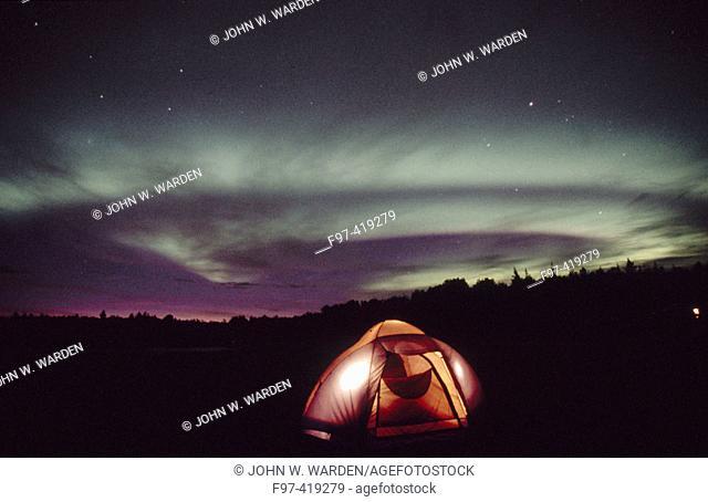 Northern lights. Aurora Borealis. Alaska. USA