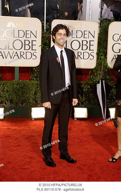 Actor Adrian Grenier attends the 67th Annual Golden Globe Awards at the Beverly Hilton in Beverly Hills, CA Sunday, January 17, 2010