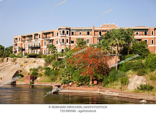 Traditional Hotel Old Cataract at Nile River, Aswan, Egypt