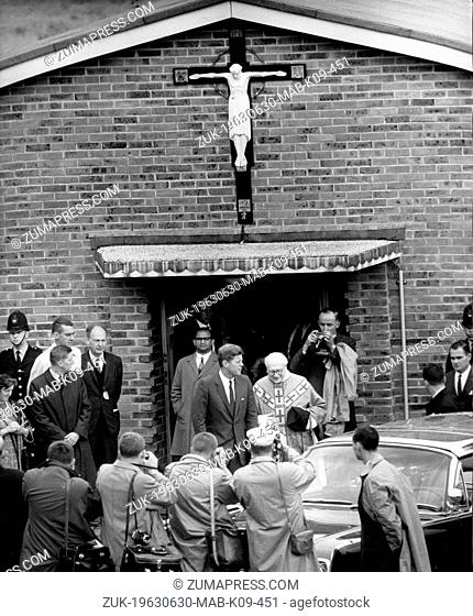 June 30, 1963 - Sussex, England, U.K. - President JOHN F. KENNEDY went to Mass at the Ashdown Forest Church, near Birch Grove, the country home of Mr