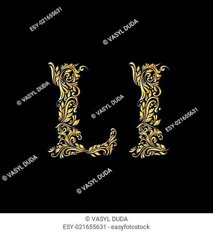 Decorated letter 'l'