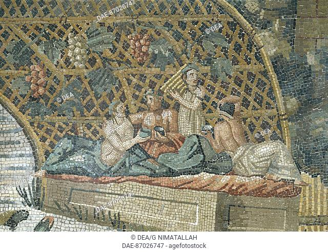 Roman civilization, The Nile Mosaic century BC with the floods of the Nile in Egypt, which came from the Sanctuary of Fortuna Primigenia of Palestrina