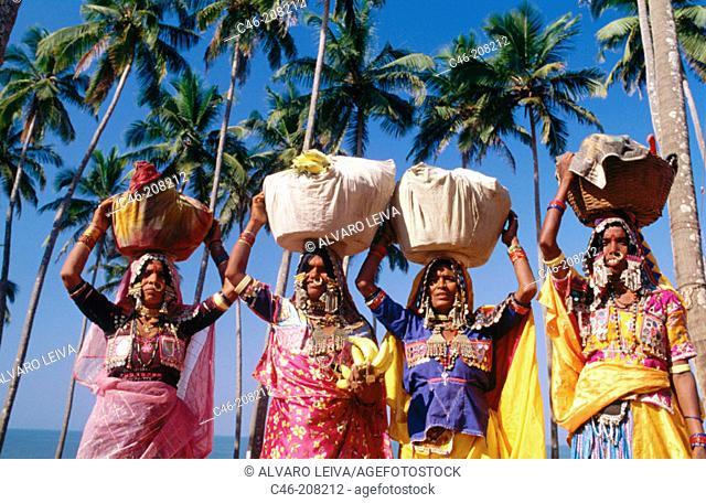Women. Anjuna Beach. Goa. India