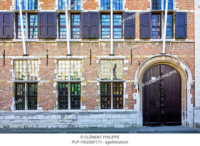 Façade and entrance of the Rubenshuis / Rubens' House museum, former home and studio of Peter Paul Rubens (1577–1640) in Antwerp, Flanders, Belgium