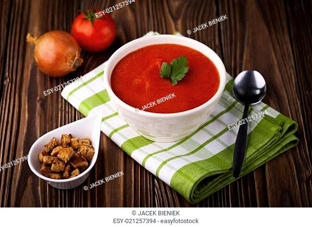Red tomato soup