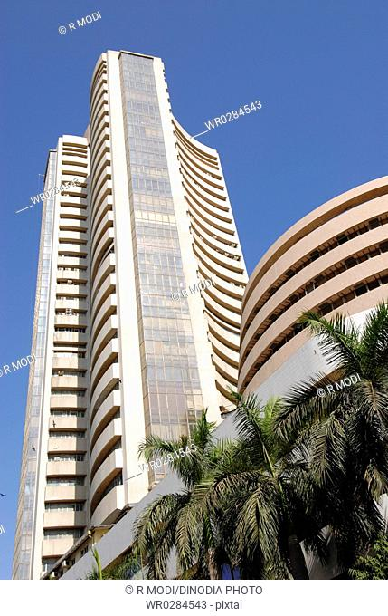 Bombay Stock Exchange BSE building , Fort , Bombay Mumbai , Maharashtra , India