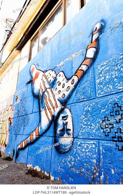 Chile, Valparaiso, Valparaiso. Street Art in Valparaiso