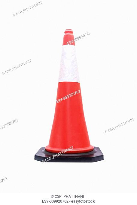 Traffic cone - barricade warning cones on white background, clip