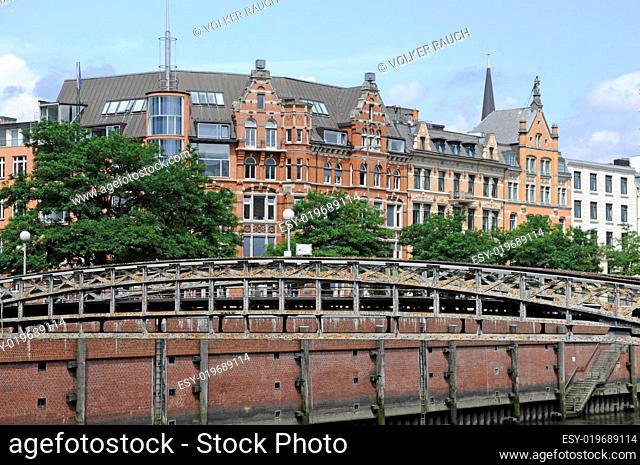 Brücke nahe der Speicherstadt in Hamburg