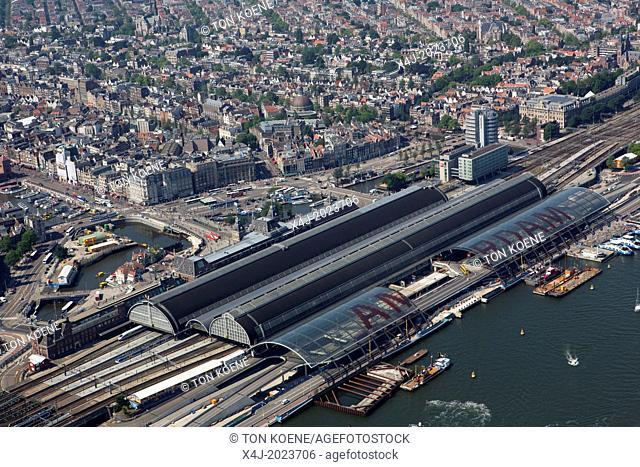 Central train station area in Amsterdam