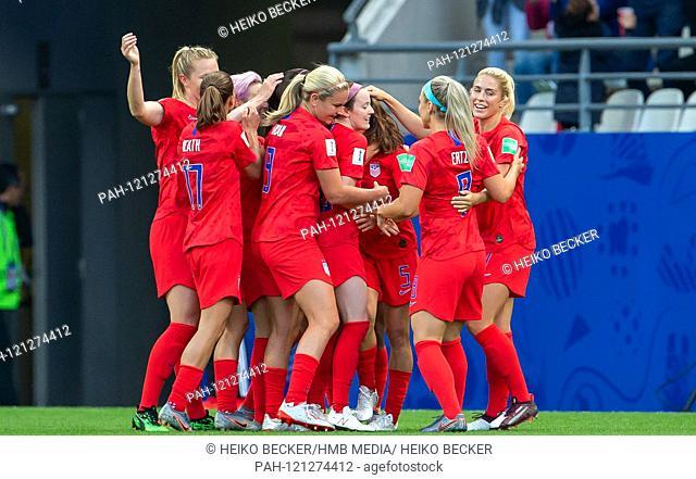 France, Reims, Stade Auguste-Delaune, 11.06.2019, Football - FIFA Women's World Cup - USA - Thailand Photo: vl jubilation for the goalkeeper 1-0
