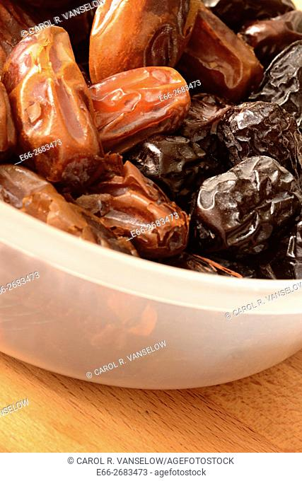 Two types of dates from Saudi Arabia
