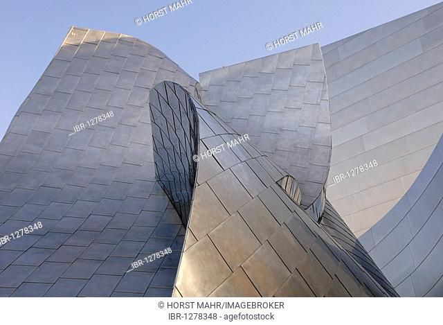 Walt Disney Concert Hall, roof detail, architect Frank O. Gehry, Los Angeles, California, USA