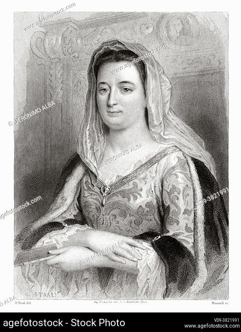 Portrait of Madame de Maintenon. Francoise d'Aubigné (1635-1719) known first as Madame Scarron and subsequently as Madame de Maintenon
