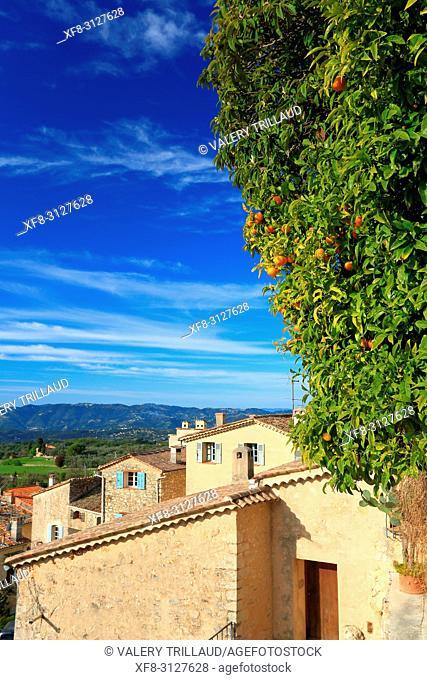 Village de Chateauneuf de Grasse, Arriere pays Grassois, 06, Alpes-Maritimes, PACA,