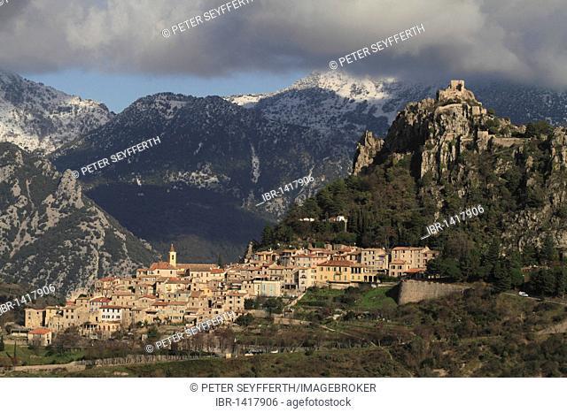 Sainte-Agnès, highest mountain village on the Mediterranean, Département Alpes Maritimes, Région Provence-Alpes-Côte d'Azur, Southern France, France, Europe