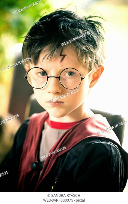 Little boy masquerade like Harry Potter