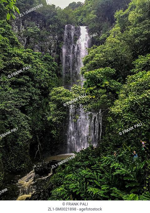 Wailua Falls Kipahulu District Hana Coast Maui Hawaii