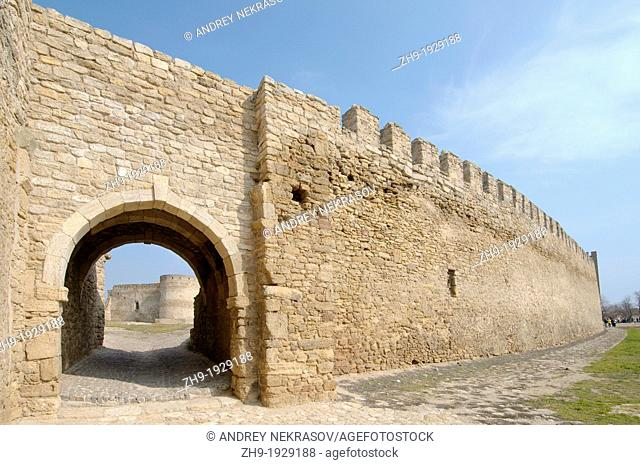 Gate, Akkerman fortress white rock, white fortress, Belgorod-Dnestrovskiy, Ukraine, Eastern Europe